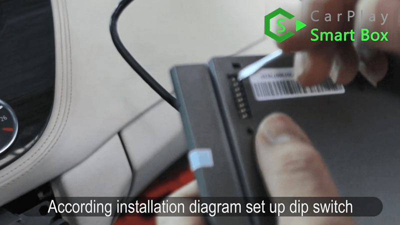 15.According installation diagram set up dip switch.