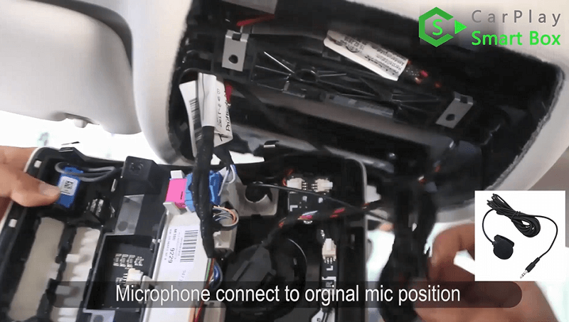 15.Microphone connect to original mic position.