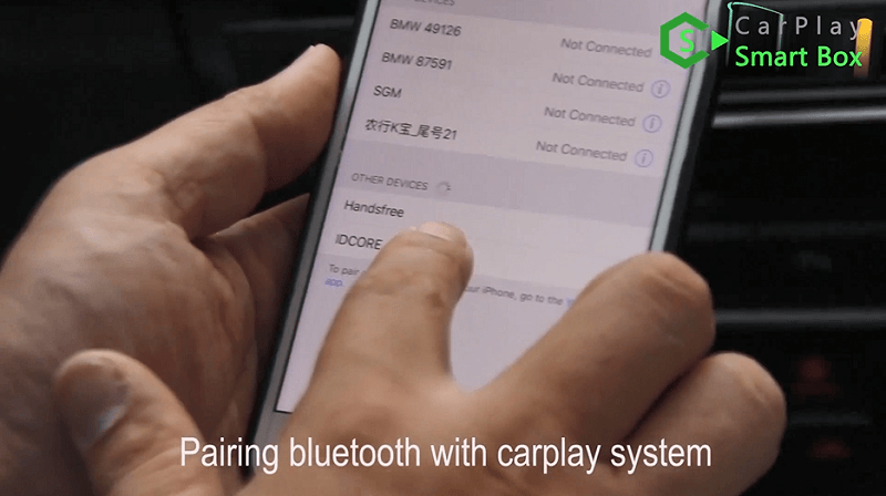 15.Pairing bluetooth with CarPlay system.