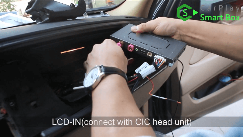 16.LCD-IN connect with CIC head unit.