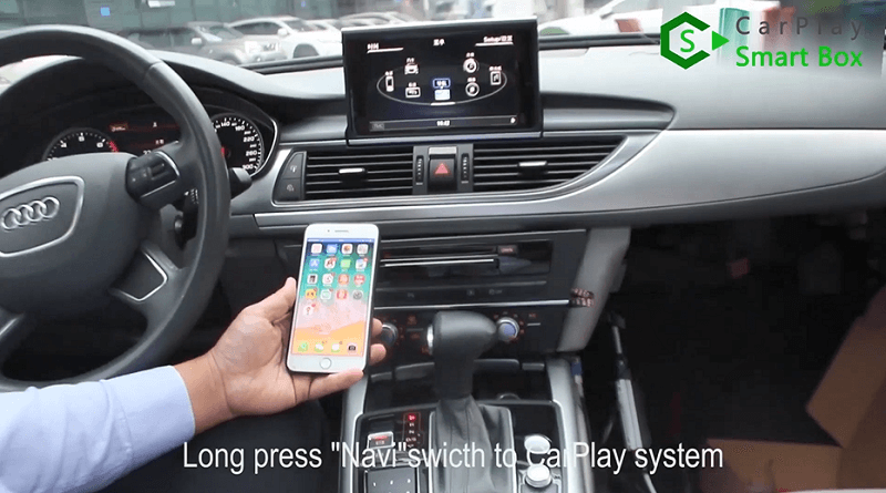 16.Long press ''Navi'' switch to CarPlay system.