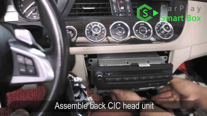 18.Assemble back CIC head unit.