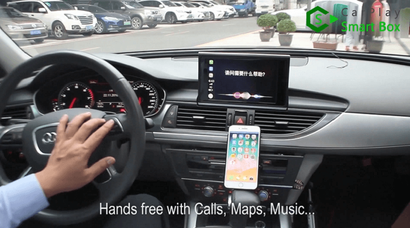 18.Hands free with calls,maps,music.