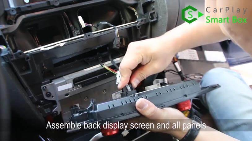 19. Assemble back display screen and all panels - Step by Step BMW X3 F25 X4 F26 NBT Wireless CarPlay Installation - CarPlay Smart Box