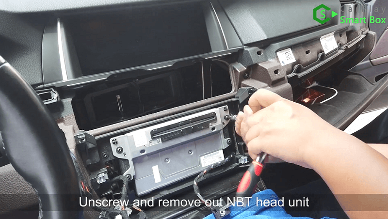 2.Unscrew and remove out NBT head unit.