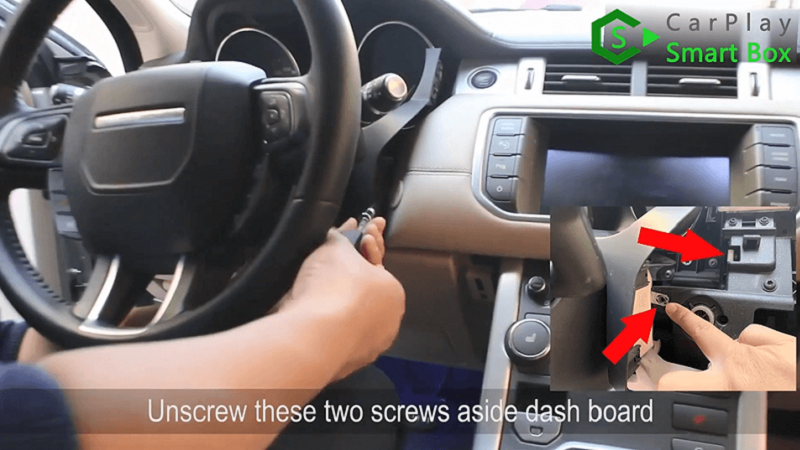 2.Unscrew these two screws aside dashboard.