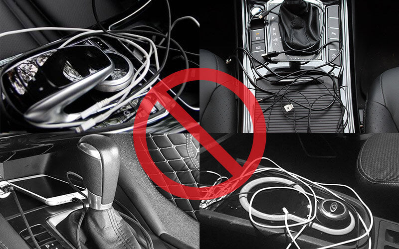 cut the cord. Say goodbye to your messy cables. Wireless carplay