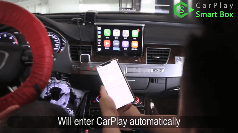 22.Will enter CarPlay automatically.