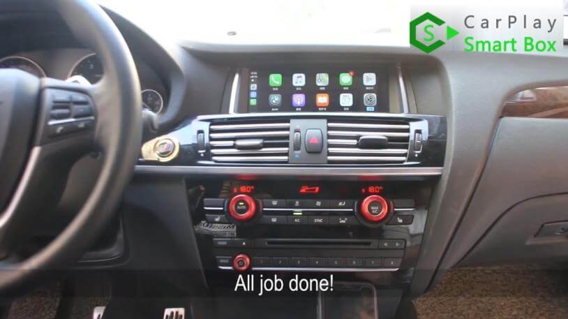 22. All job done - Step by Step BMW X3 F25 X4 F26 NBT Wireless CarPlay Installation - CarPlay Smart Box
