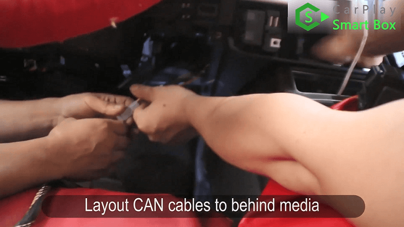 3.Layout CAN cables to behind media.
