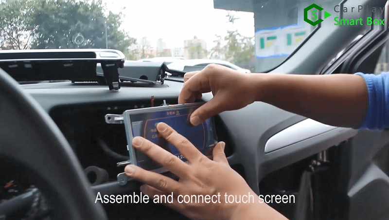 5.Assemble and connect touch screen.