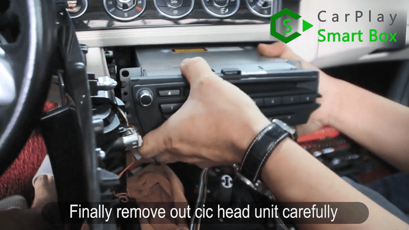 5.Finally remove out CIC head unit carefully.