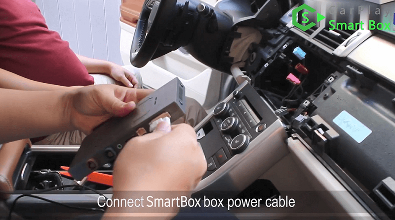 6.Connect Smart Box box power cable.