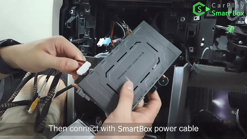 6.Then connect with Smart Box power cable.