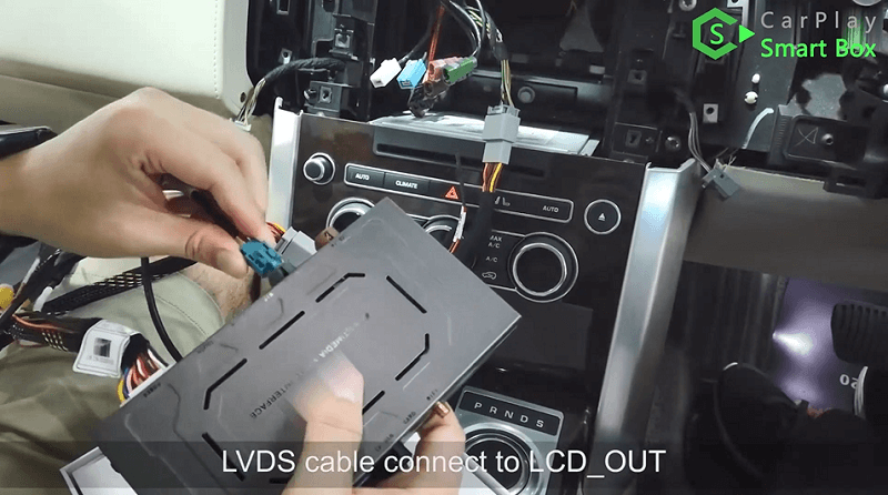 7.LVDS cable connect to LCD_OUT.