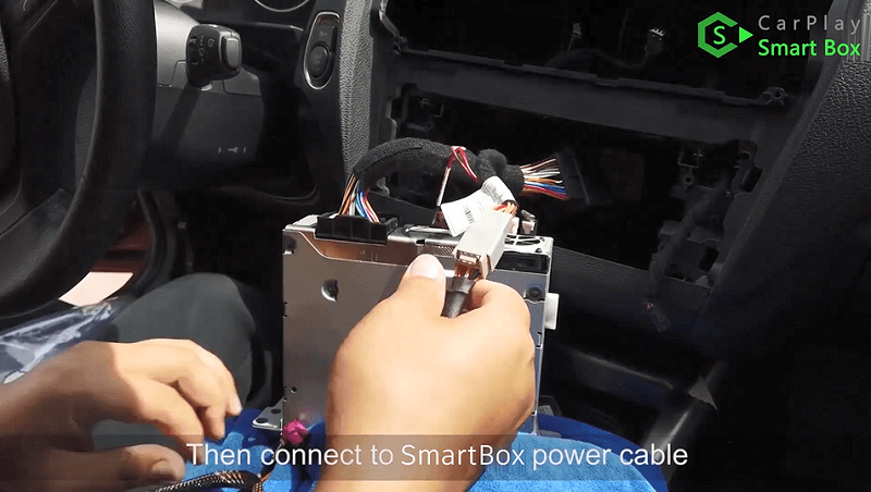 7.Then connect to Smart Box power cable.
