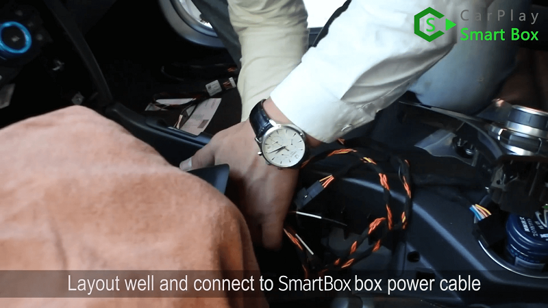 8.Layout well and connect to Smart Box box power cable.