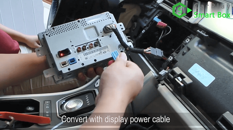 9.Convert with display power cable.