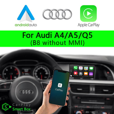 Audi CSBAU-1 (B8 without MMI) A4 A5 Q5-Wireless Apple CarPlay Android Auto Retrofit Upgrade Aftermarket Head Unit Adapter Smart Box