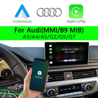 Audi CSBAU-2 (MMIB9 MIB) A3 A4 A5 Q2 Q5 Q7-Wireless Apple CarPlay Android Auto Retrofit Upgrade Aftermarket Head Unit Adapter Smart Box