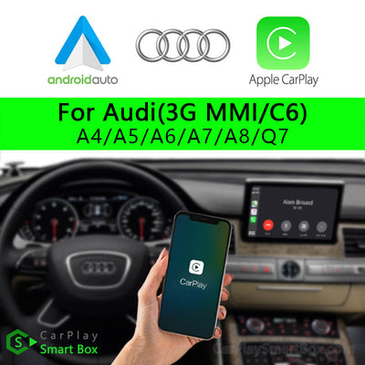 Audi CSBAU-5 (3G MMI C6) A4 A5 A6 A7 A8 Q7-Wireless Apple CarPlay Android Auto Retrofit Upgrade Aftermarket Head Unit Adapter Smart Box