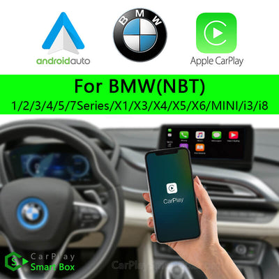 BMW CSBBM-2 (NBT) 1 2 3 4 5 7Series X1 X3 X4 X5 X6 MINI i3 i8-Wireless Apple CarPlay Android Auto Retrofit Upgrade Aftermarket Head Unit Adapter Smart Box