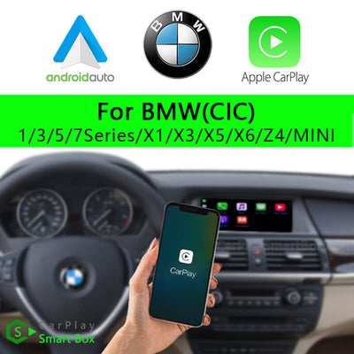 BMW CSBBM-3 (CIC) 1 3 5 7Series X1 X3 X5 X6 Z4 MINI-Wireless Apple CarPlay Android Auto Retrofit Upgrade Aftermarket Head Unit Adapter Smart Box