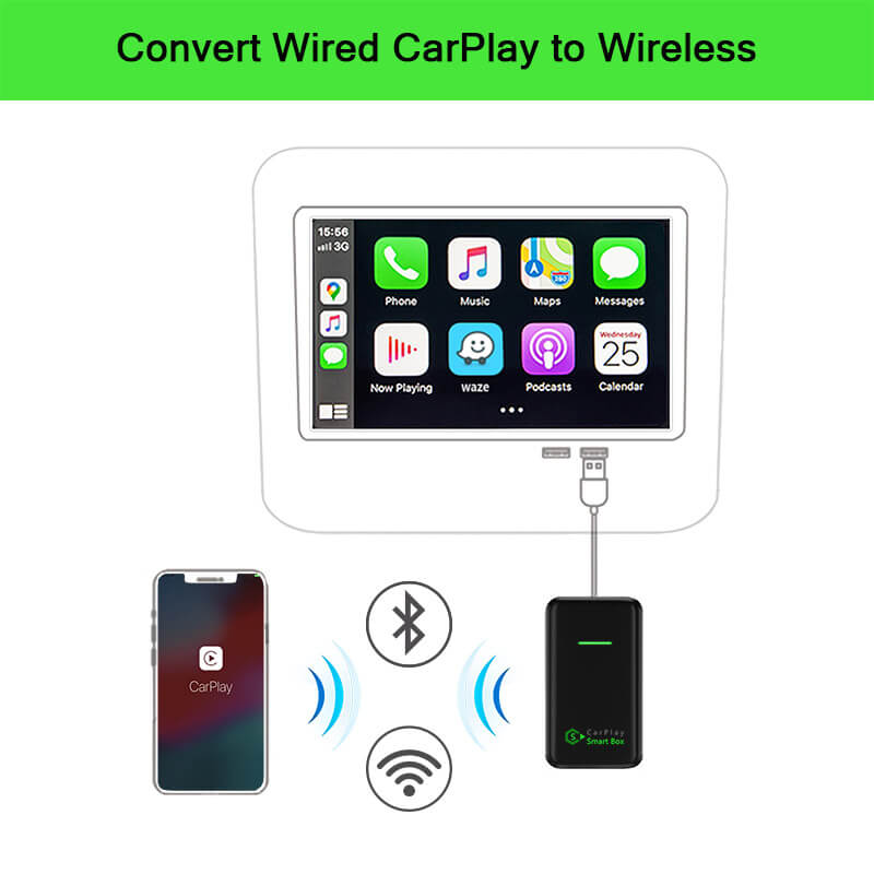 (CSB-X) Convert Wired CarPlay to Wireless USB Dongle Adapter