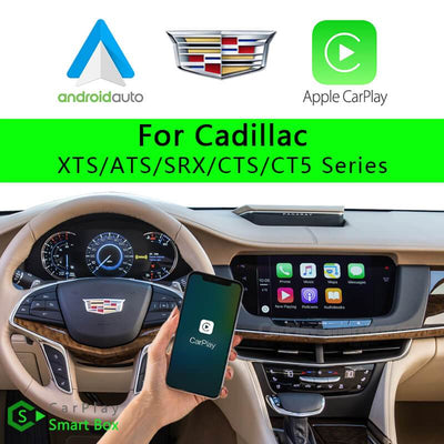 Cadillac CSBGM-1 XTS ATS SRX CTS CT5 Series-Wireless Apple CarPlay Android Auto Retrofit Upgrade Aftermarket Head Unit Adapter Smart Box