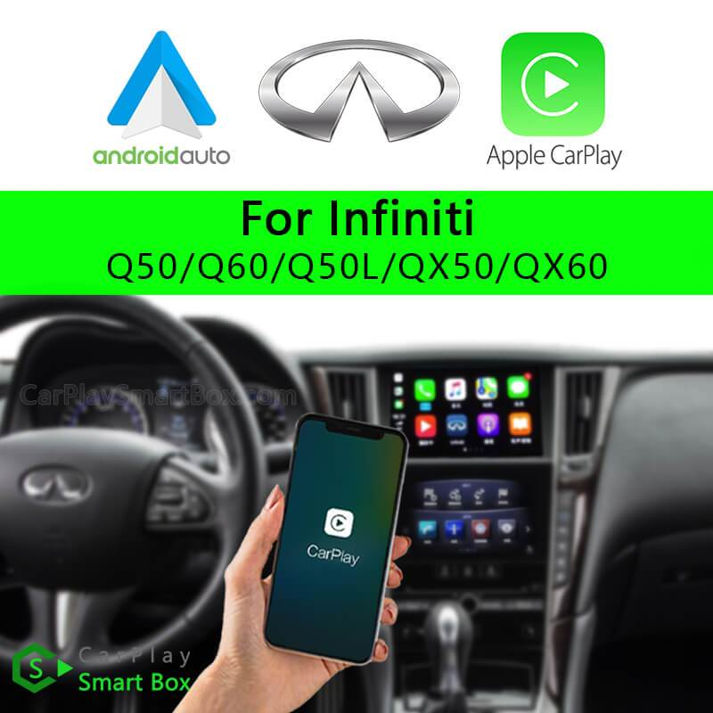 Infiniti CSBIN-1 Q50 Q60 Q50L QX50 QX60-Wireless Apple CarPlay Android Auto Retrofit Upgrade Aftermarket Head Unit Adapter Smart Box