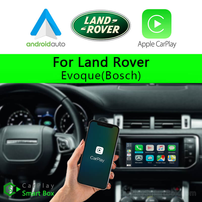 Land Rover CSBLR-2 (Bosch) Evoque-Wireless Apple CarPlay Android Auto Retrofit Upgrade Aftermarket Head Unit Adapter Smart Box)