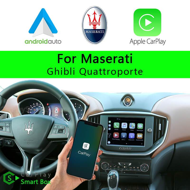 Maserati CSBMA-1 Ghibli Quattroporte-Wireless Apple CarPlay Android Auto Retrofit Upgrade Aftermarket Head Unit Adapter Smart Box