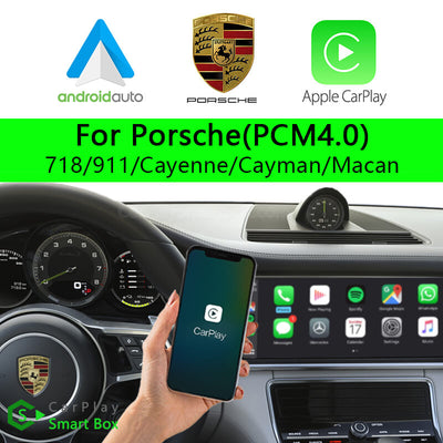 Porsche CSBPO-2  (PCM4.0) 718 911 Cayenne Cayman Macan-Wireless Apple CarPlay Android Auto Retrofit Upgrade Aftermarket Head Unit Adapter Smart Box
