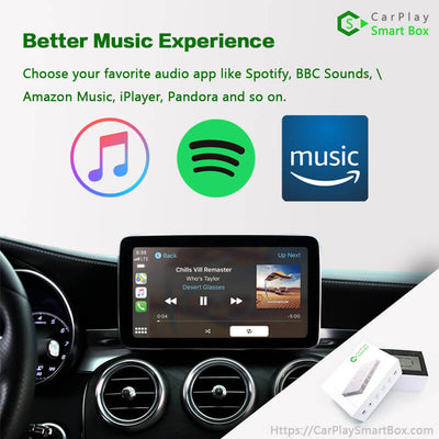 (CSBME-1) Mercedes-Benz(NTG5.0) A/ B/ C/ E/ S/ GLE/ GLC/ GLA/ ML | 2014-2018 Wireless Apple CarPlay Upgrade Solution