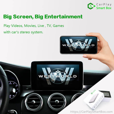 (CSBBM-3) BMW(CIC) 1/ 3/ 5/ 7 Series X1/ X3/ X5/ X6/ Z4/ Mini Cooper | 2008-2014 Apple CarPlay Upgrade Box