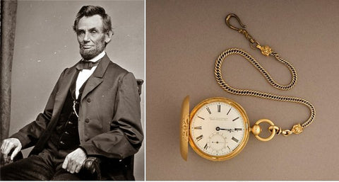 Abraham Lincoln et sa montre (1858) The National Museum of American History,