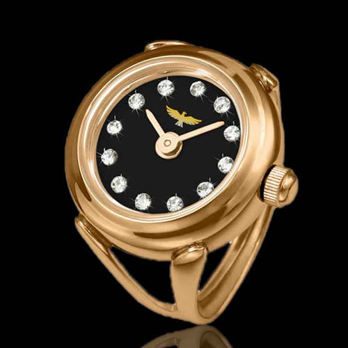 montre bague en or