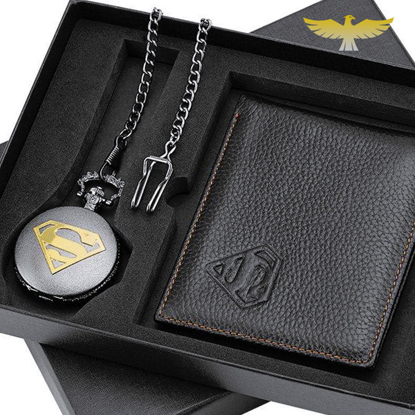 Coffret montre à gousset superman