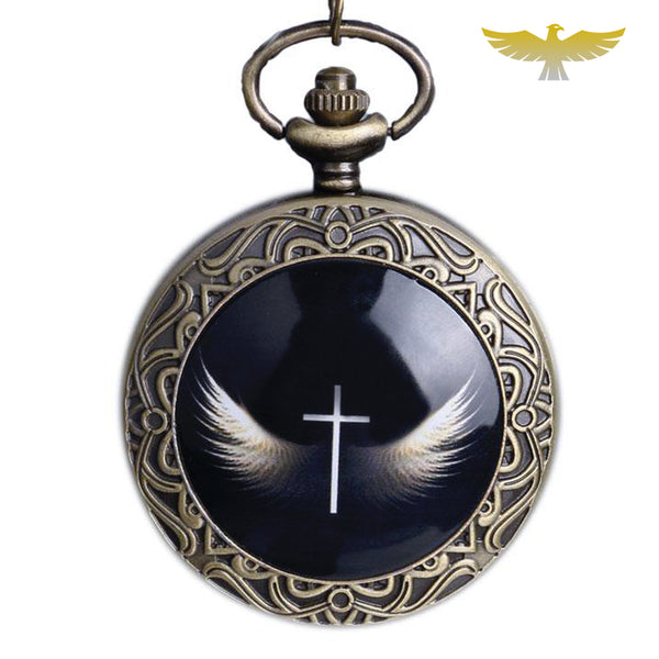 Montre collier ailes des anges - montre-de-poche-gousset
