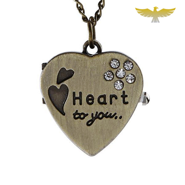Montre collier coeur