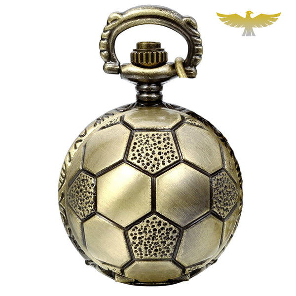 Montre collier vintage football - montre-de-poche-gousset