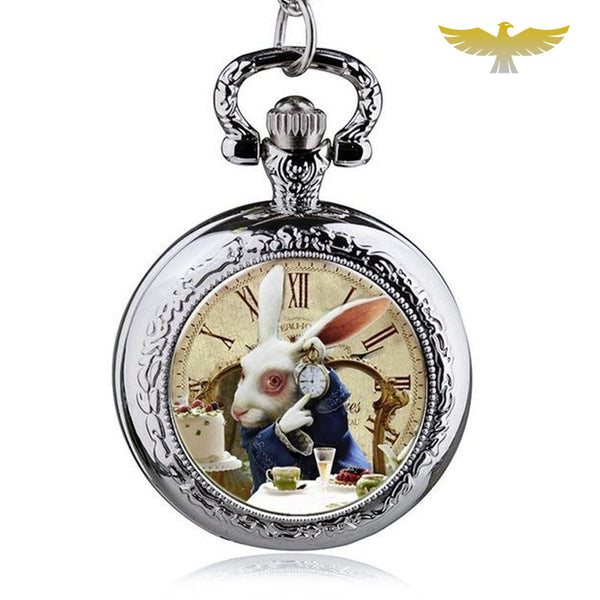 Montre gousset alice in wonderland - montre-de-poche-gousset