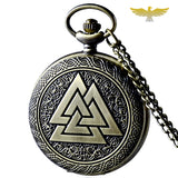 Montre gousset triangle viking valknut
