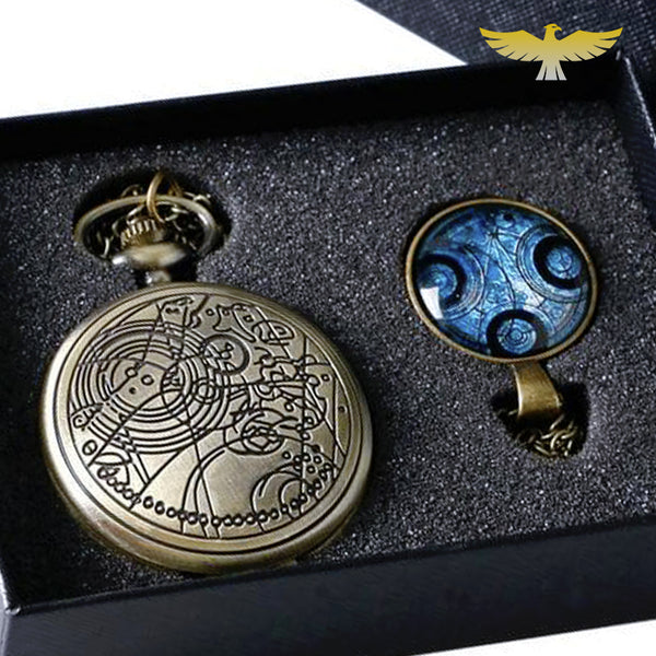 Coffret montre à gousset steampunk Doctor Who