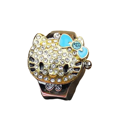 Bague montre hello kitty - montre-de-poche-gousset