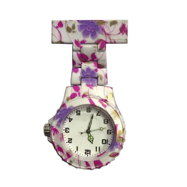 Montre trotteuse originale rose - montre-de-poche-gousset