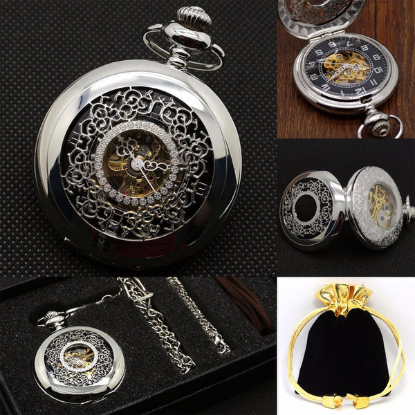 Coffret montre à gousset Black Flower