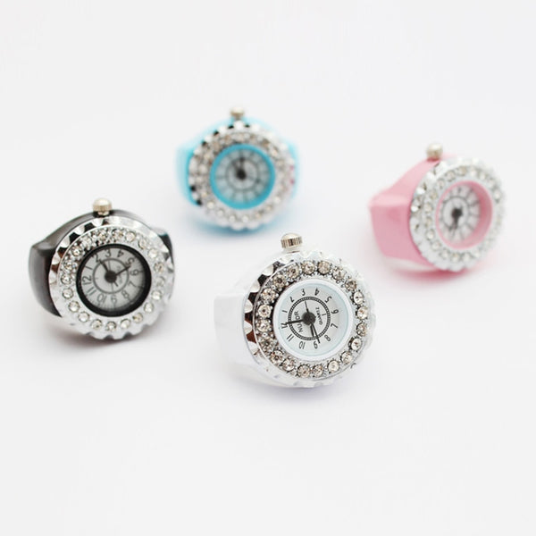 Bague montre diamants - montre-de-poche-gousset