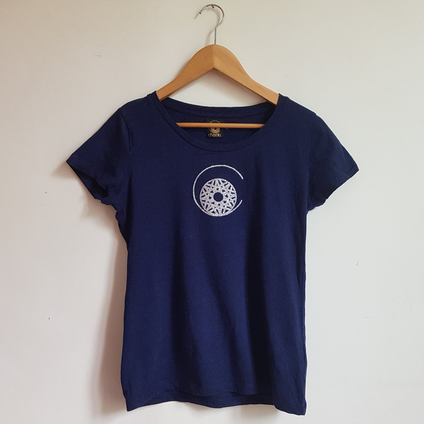 T-shirt bleu chiné