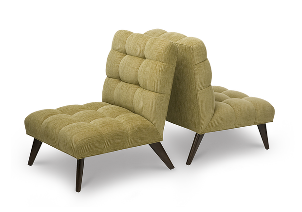 Armless Tufted Chair